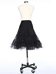Slips A-Line Slip Short-Length 2 Satin Tulle White Black Red
