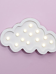 cheap -Nordic Style LED Night Light Table Lamp Wall Lamp Wall Decoration LED Ornament Children Room Decoration  White Cloud Cartoon Lamp