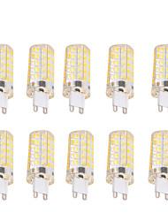 Недорогие -BRELONG® 10 шт. 6W 550-600lm G9 E26 / E27 LED лампы типа Корн T 80 Светодиодные бусины SMD 5730 Диммируемая Декоративная Тёплый белый