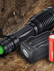 baratos -Lanternas LED LED 2200 lm 5 Modo Cree XM-L T6 Com Pilha e Carregador Foco Ajustável Campismo / Escursão / Espeleologismo Uso Diário
