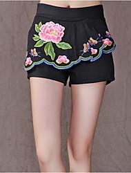 nouvelles femmes&# 39; pantalon de broderie de vent national pantalon casual short jupes