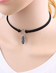 cheap -Women's Wings / Feather Fashion Euramerican Choker Necklace Alloy Choker Necklace , Daily Casual