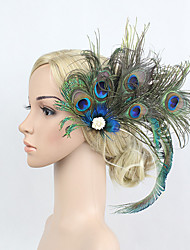 cheap -Rhinestone Feather Alloy Flowers Headwear Hair Clip with Floral 1pc Special Occasion Headpiece