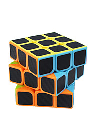 cheap -Rubik's Cube Carbon Fiber 3*3*3 Smooth Speed Cube Magic Cube Puzzle Cube Matte Sticker Square Gift