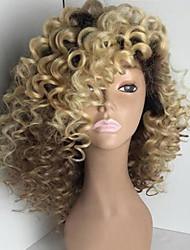 блондинка два тона ломбера бразильского человек девственница волосы курчавого фигурного бесклеевого полного парики шнурка человеческих