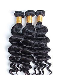Недорогие -девственные природные волна бразильских волос пучки 3 шт / много Бесплатная доставка, дешевые оптовые девственница бразильский волосы
