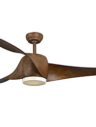 cheap -52 inch Ceiling Fan Led Ceiling Light with Remote Control  for LivingRoom Dinning Room within 5inch & 10 inch rod