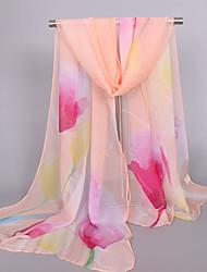 cheap -Women's Holiday Outdoor Silk Rectangle Print