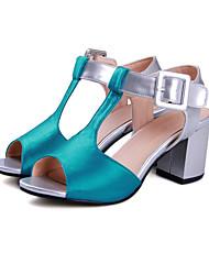 Da donna-Sandali-Casual Serata e festa-Cinturino alla caviglia Scarpe Flower Girl Tacchi Piccoli per adolescenti-Quadrato Heel di blocco-