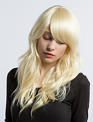 MAYSU Ethereal Beige  Hair Partial Fringe Hair  Synthetic Wigs Beautiful   Woman hair