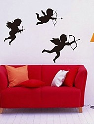 cheap -Lovely New Custom-made Personalized Name Angel Wall Stickers Living Room Nursery Bedroom Vinyl Decor Home Art Decals