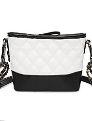 preiswerte -Damen Taschen PU Umhängetasche für Normal Ganzjährig Weiß Schwarz Schwarz/weiss