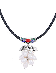 cheap -Women's Flower Floral Unique Design Logo Style Flower Style Dangling Style Flowers Pendant Necklace Pearl Pearl Pendant Necklace ,