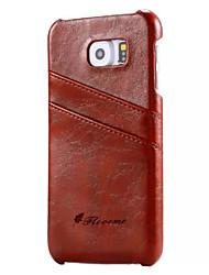 economico -Per A portafoglio Porta-carte di credito Custodia Custodia posteriore Custodia Tinta unita Resistente Vera pelle per SamsungS7 S6 edge