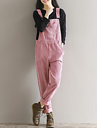 cheap -Women's Loose Relaxed Pants - Solid Colored