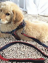 preiswerte -Hund Geschirre Leinen Regolabile / Einziehbar Atmungsaktiv Sicherheit Traning Laufen Solide Stoff Rot Blau Schwarz