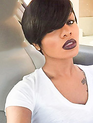 cheap -Ethereal   Natural Black Short Hair Human Hair Wig Suitable For All Kinds Of People