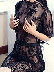 Ultra Sexy Nightwear,Sexy Lace Solid-Medium Lace White Black