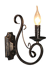 Mini Retro Wall Lamp Hallway  Metal Candle Shape Wall Lamp Lighting
