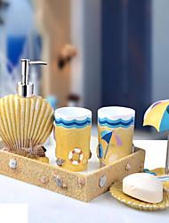 baratos -Jogo de Acessórios para BanheiroResina /Mediterrâneo
