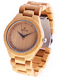 cheap -Women's Wrist Watch Japanese Wooden Wood Band Charm / Casual / Wood Yellow