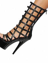 Недорогие -Белый Черный Пурпурный-Для женщин-Свадьба Повседневный Для вечеринки / ужина-Дерматин-На шпильке На платформе-Оригинальная обувь клуб