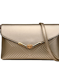 Women Bags All Seasons PU Shoulder Bag for Wedding Event/Party Casual Formal Office & Career Gold White Black Purple Wine