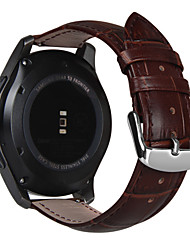 cheap -For Samsung Gear S3 Classic/Frontier 22mm Genuine Leather Watch Band Wrist Strap