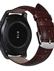 billiga -Klockarmband för Gear S3 Frontier / Gear S3 Classic Samsung Galaxy Klassiskt spänne Läder Handledsrem