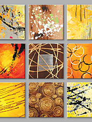 cheap -Hand-Painted Abstract Square,Modern European Style More than Five Panels Canvas Oil Painting For Home Decoration