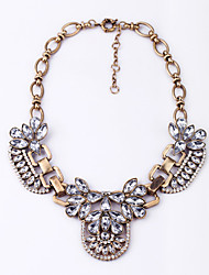 cheap -Women's Crystal Statement Necklace - Flower Unique Design Gray, Dark Green Necklace For Casual
