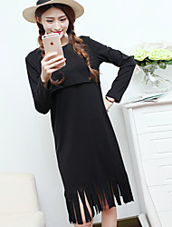 Sign new Korean cotton month of breastfeeding clothes to go out breastfeeding skirt real shot Freaky fashion clothes breastfeeding dress