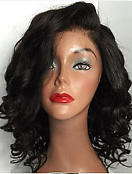 cheap -Virgin Human Hair Lace Front Wig Wig Brazilian Hair Curly 130% Density With Baby Hair / Natural Hairline / 100% Virgin Women's Short / Long Human Hair Lace Wig