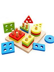 Недорогие -Учебный инструмент Монтессори Игрушки Обучающая игрушка Игрушки Квадратный Треугольник Образование Универсальные Мальчики Куски