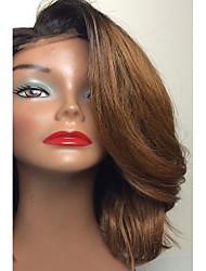 6/27 marron 8-26 pouces vague ombre avant de dentelle vierge brazilian humaine complète du corps avec une frange chinois dentelle