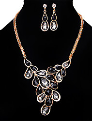 cheap -Women's Crystal Jewelry Set - Crystal, Rhinestone, Opal Personalized, Vintage, Euramerican Include Necklace / Earrings Light Yellow / Blue / Pink For Wedding Party Special Occasion