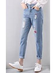 segno autunno versione coreana del sciolto grandi cantieri pantaloni diritti coreani dei jeans del foro femminili harem piedi nove punti