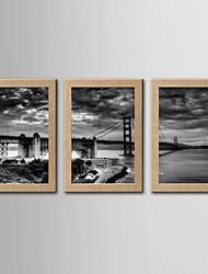 Stampe fotografiche Astratto Riproduzione Classico Realismo,Tre Pannelli Stile Panoramica Stampa artistica Decorazioni da parete For