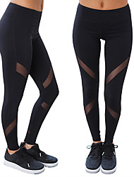 Women's Running Pants Breathable Soft Comfortable Stretch Tights Bottoms Yoga Exercise & Fitness Running Terylene Slim S M L