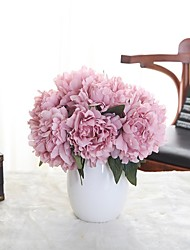1 Une succursale Polyester Plastique Pivoines Fleur de Table Fleurs artificielles 9*7
