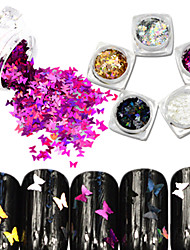 cheap -5bottle/set Hot Fashion Sweet Style Nail Glitter Laser Sparkling Butterfly Paillette Nail DIY Bling Beautiful Butterfly Slice Decoration HD01-05