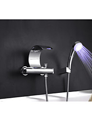 cheap -Bathtub Faucet - Contemporary Art Deco / Retro Modern Chrome Tub And Shower Brass Valve
