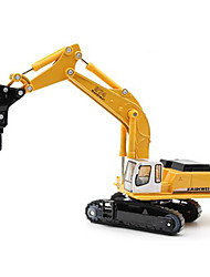 Toy Cars Toys Construction Vehicle Excavator Toys Excavating Machinery Metal Alloy Plastic Metal Pieces Children's Gift