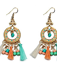 Women's Drop Earrings Unique Design Tassel Crystal Alloy Jewelry Jewelry For Party Daily Casual