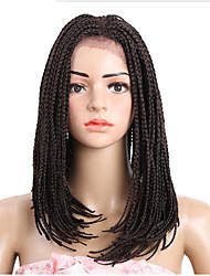 cheap -Women Synthetic Lace Front Wig Medium Length Dark Brown Natural Wigs Halloween Wig Carnival Wig Costume Wig