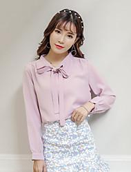 & Sign Stock Korean female long-sleeved shirt small fresh sweet spring models 17 years