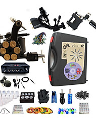 cheap -Tattoo Machine Professional Tattoo Kit 2 rotary machine liner & shader 1 alloy machine liner & shader High Quality LED power supply 2 x
