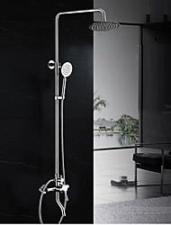 cheap -Contemporary Art Deco/Retro Modern Shower System Rain Shower Widespread Handshower Included Ceramic Valve Two Holes Two Handles Two Holes