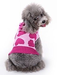 cheap -Cat Dog Coat Sweater Clothes/Jumpsuit Dog Clothes Winter Spring/Fall Hearts Cute Fashion Casual/Daily