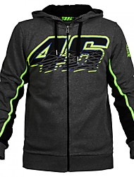 cheap -VR46 MotoGP Motorsport Racing Hoodie Jacket Black Mens Biker Sweatshirt
